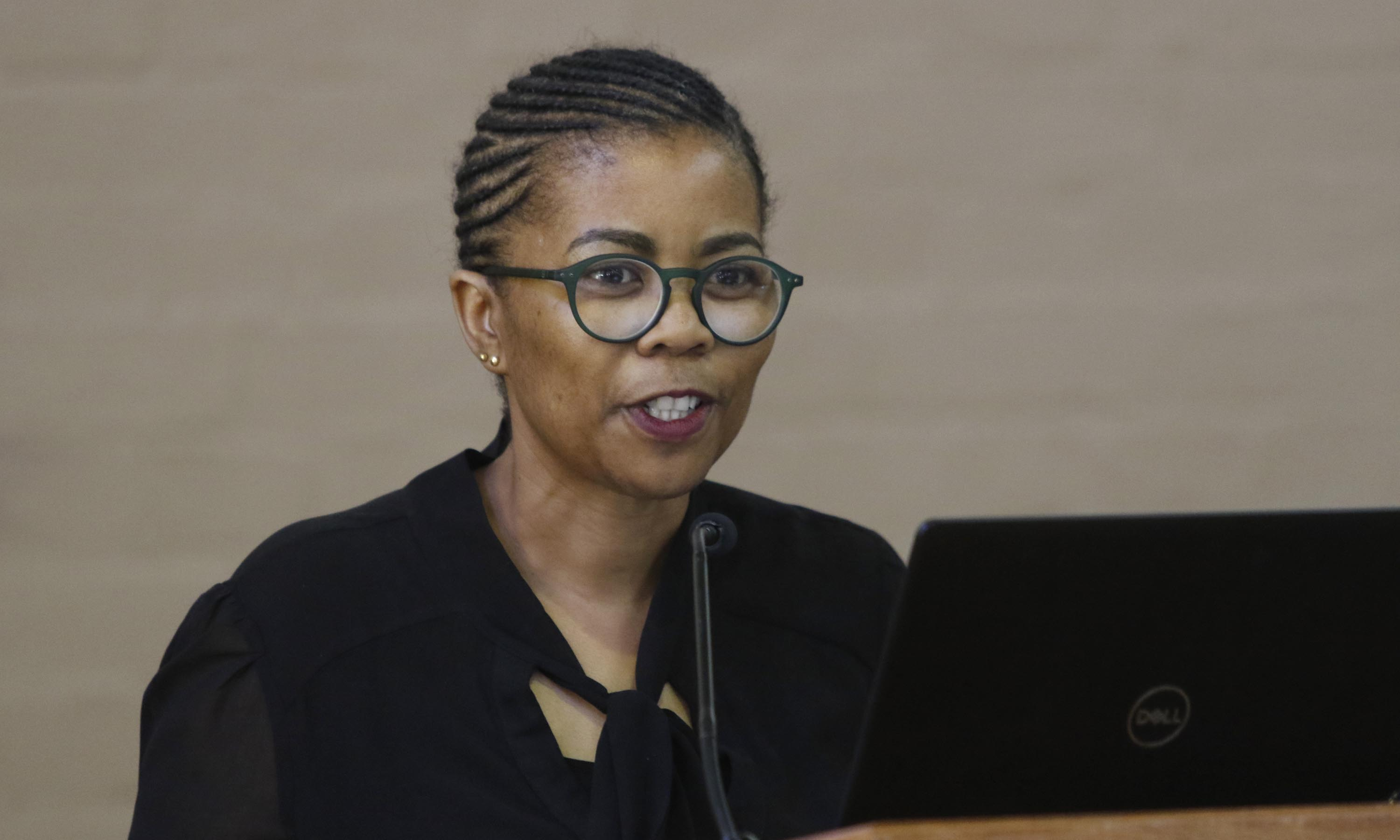 Prof Puleng LenkaBula, Vice-Rector: Institutional Change, Student Affairs and Community Engagement opened the colloquium on Tuesday 28 January 2020.