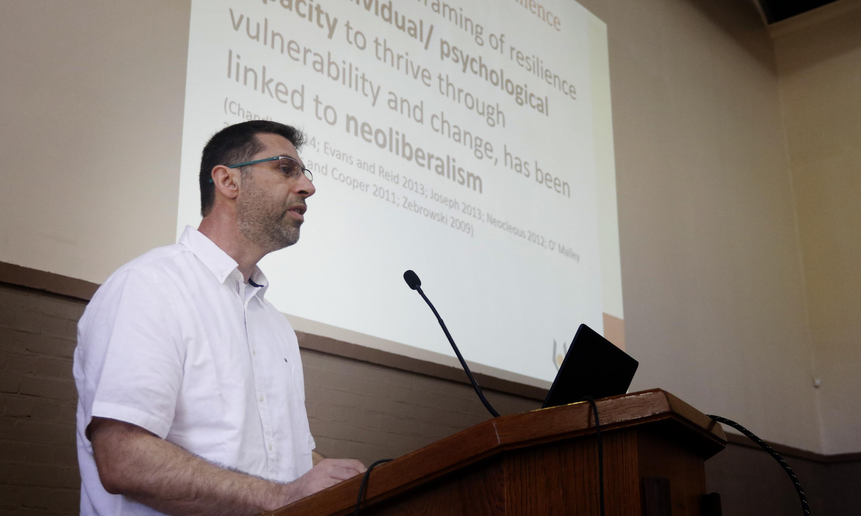 Prof Michalinos Zembylas, delivered the Keynote address on Tuesday 28 January 2020.