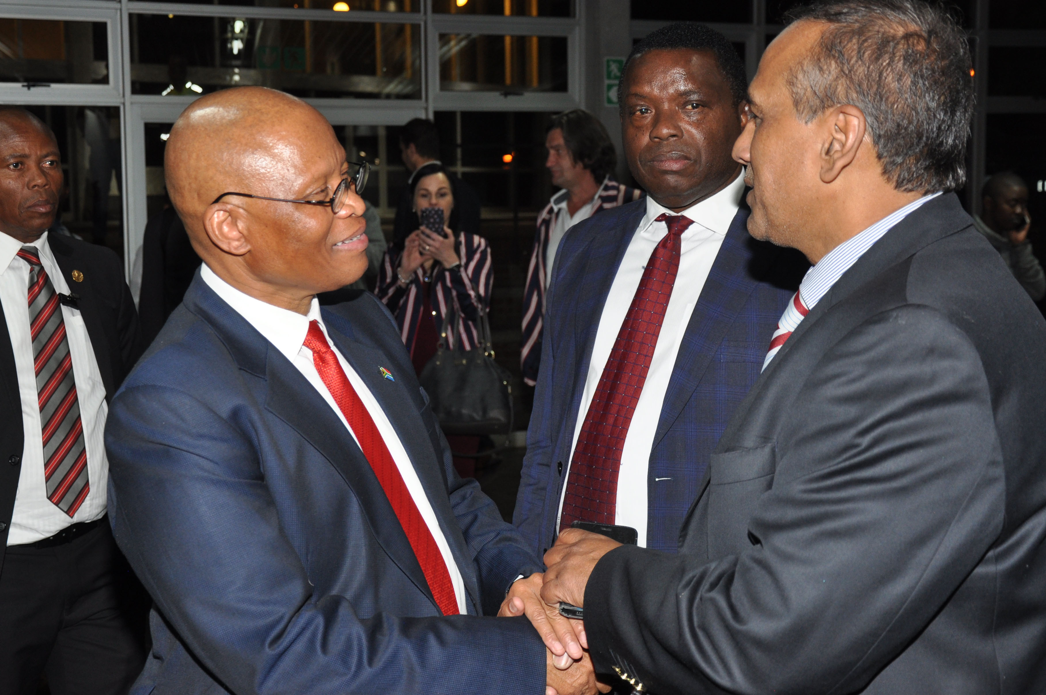 From the left: Chief Justice Mogoeng Mogoeng, Prof John Mubangizi, Prof Prakash Naidoo