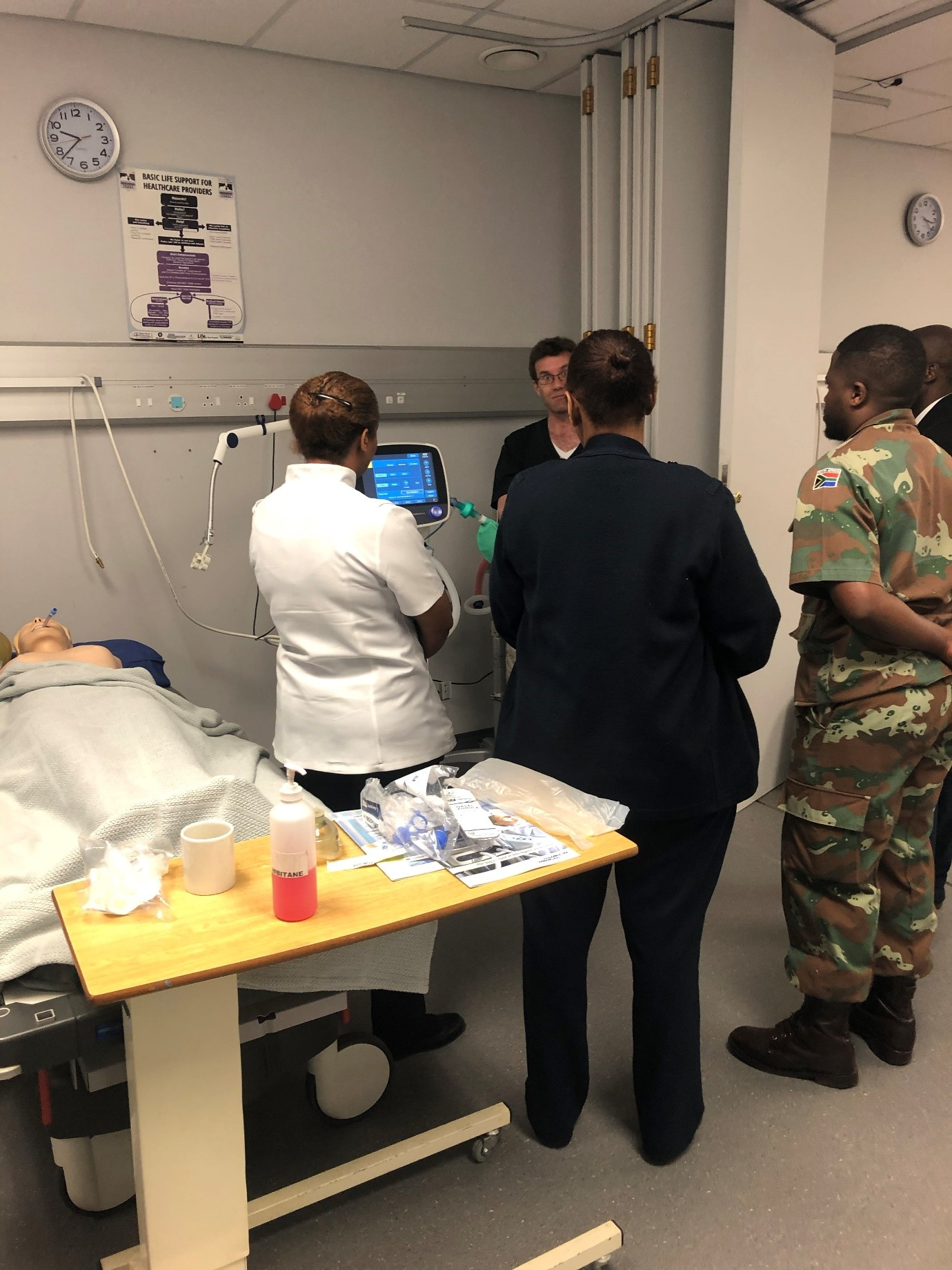 Ventilator training for nursing staff.