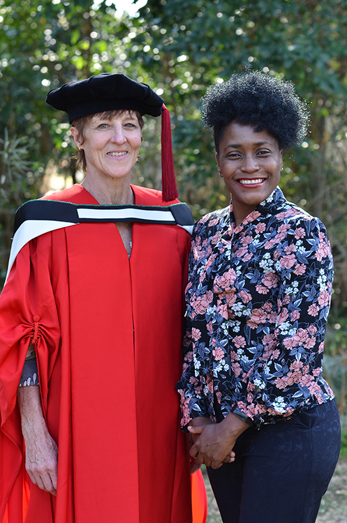 Dr Fenella Somerville and Dr Faith Mkwananzi (PhD Co-Promoter)