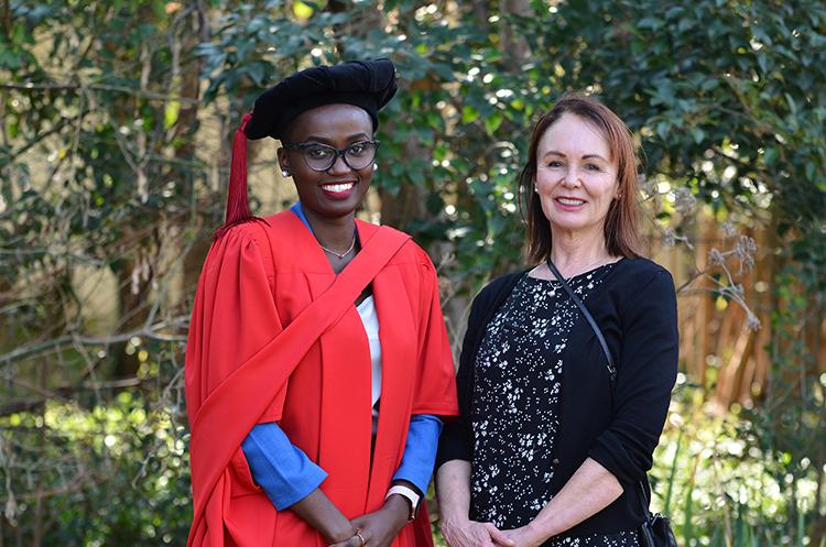 Dr Bertha Kibona and Prof Melanie Walker (PhD Promoter)
