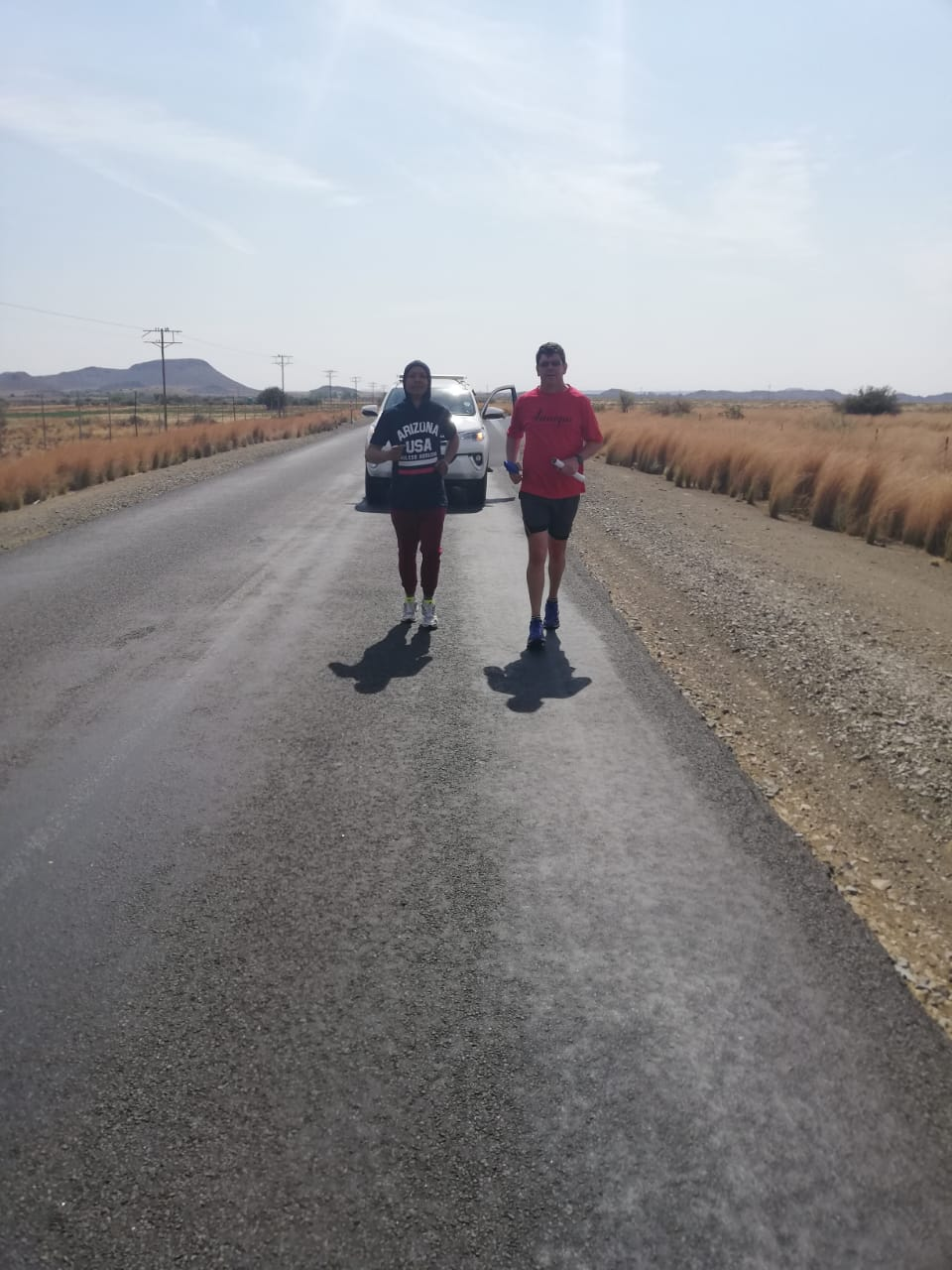 #UFSRun4MentalHealth runners on the road