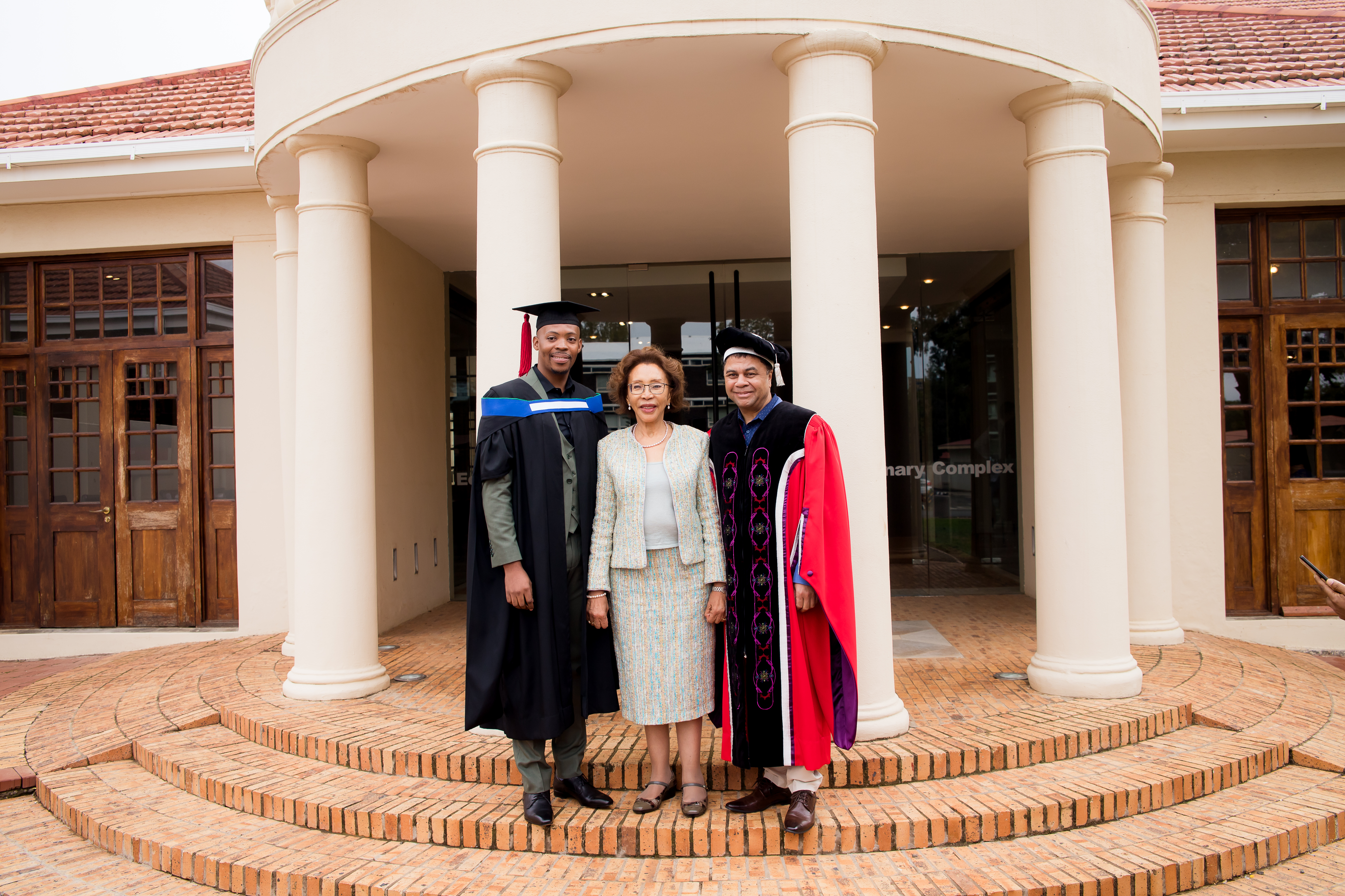 Thapelo Chacha, Dr Tshepo Motsepe and Prof Francis Petersen