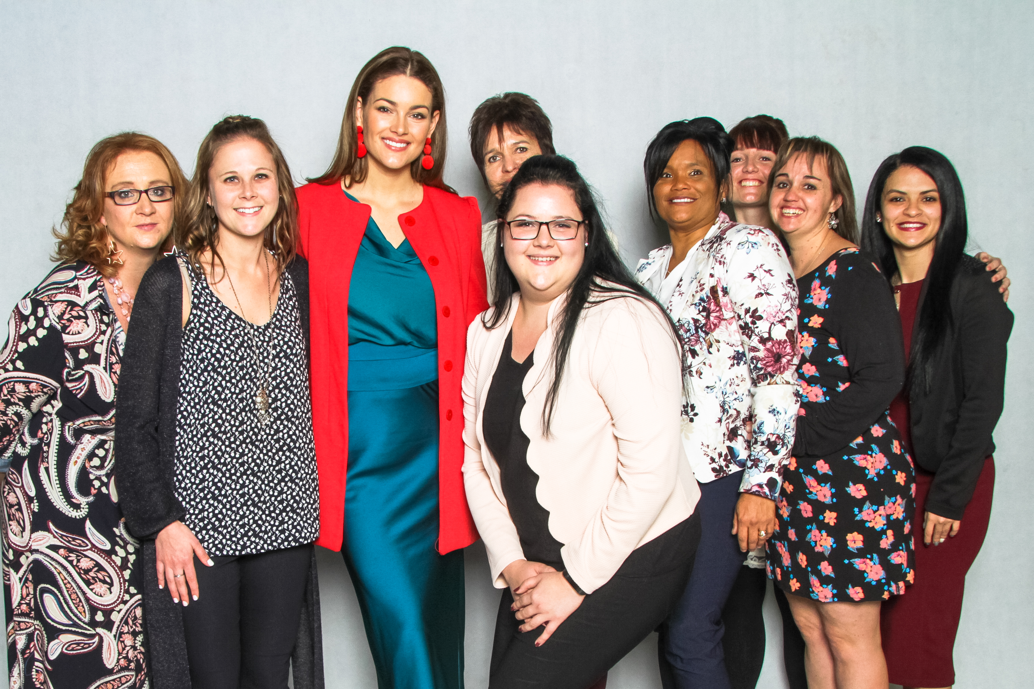 Rolene Strauss with UFS staff members