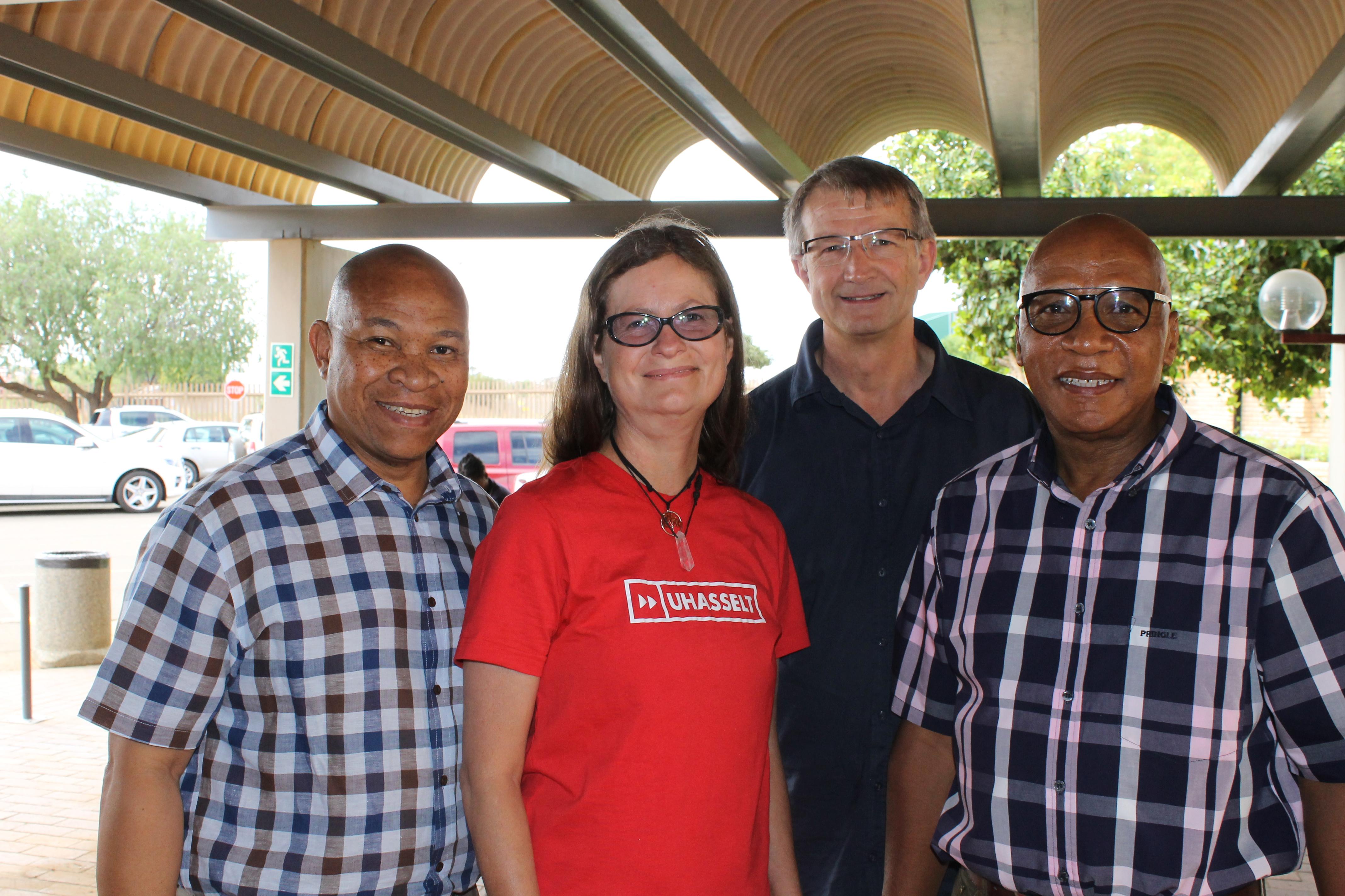 From the left: Malefetsane Mokoena, Dr Anita Venter , Thomas Stewart, Freddie Kenney.