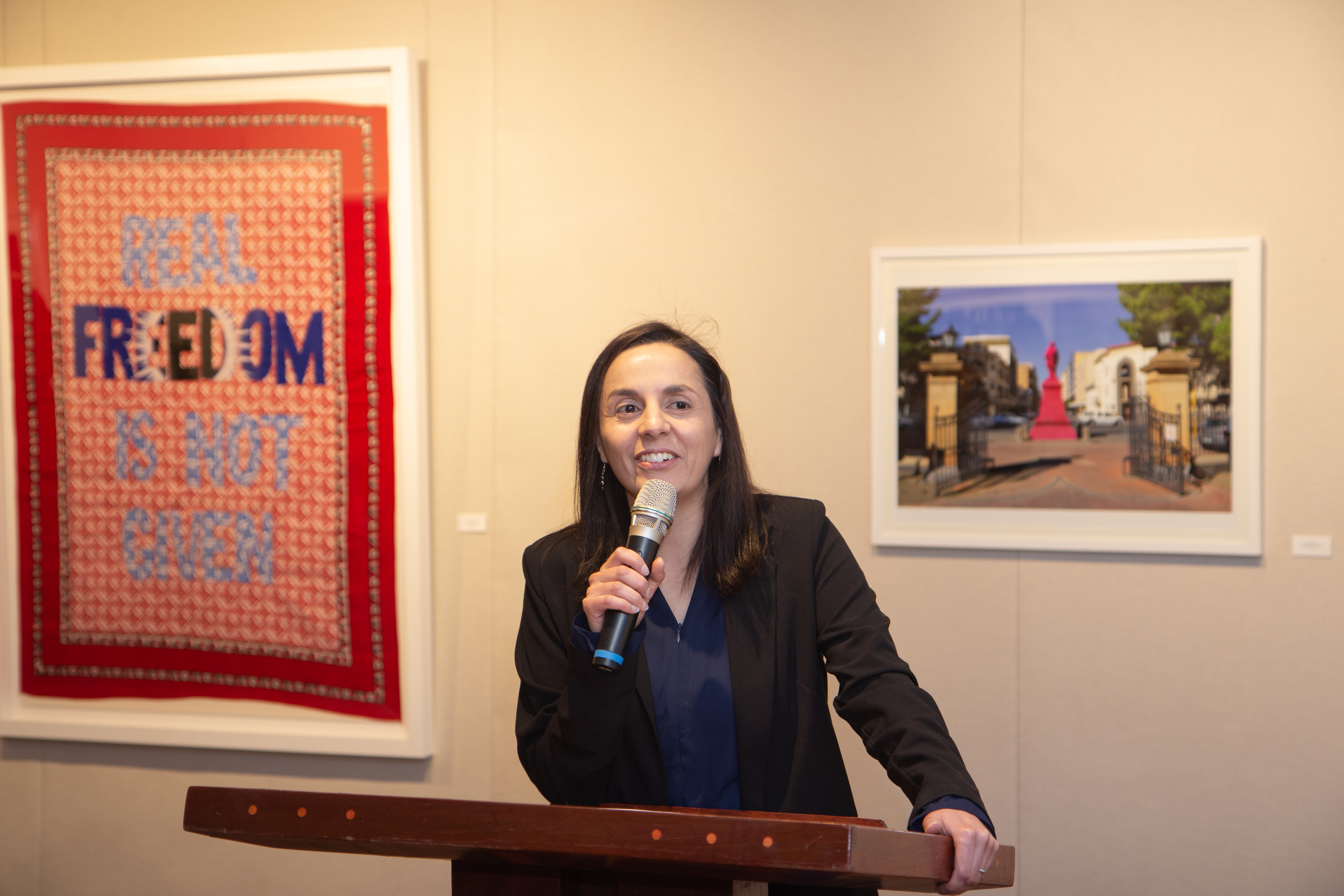 Angela de Jesus, at the Opening exhibition