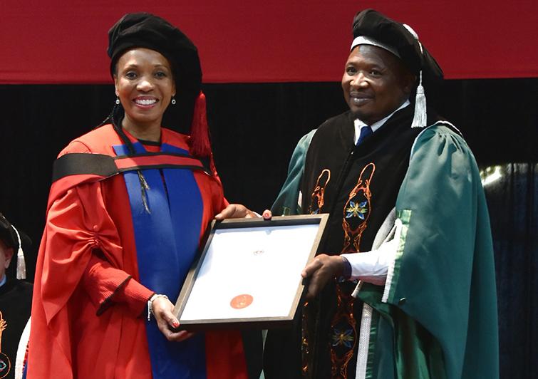 Justice Molemela and Mr Nikile Ntsababa