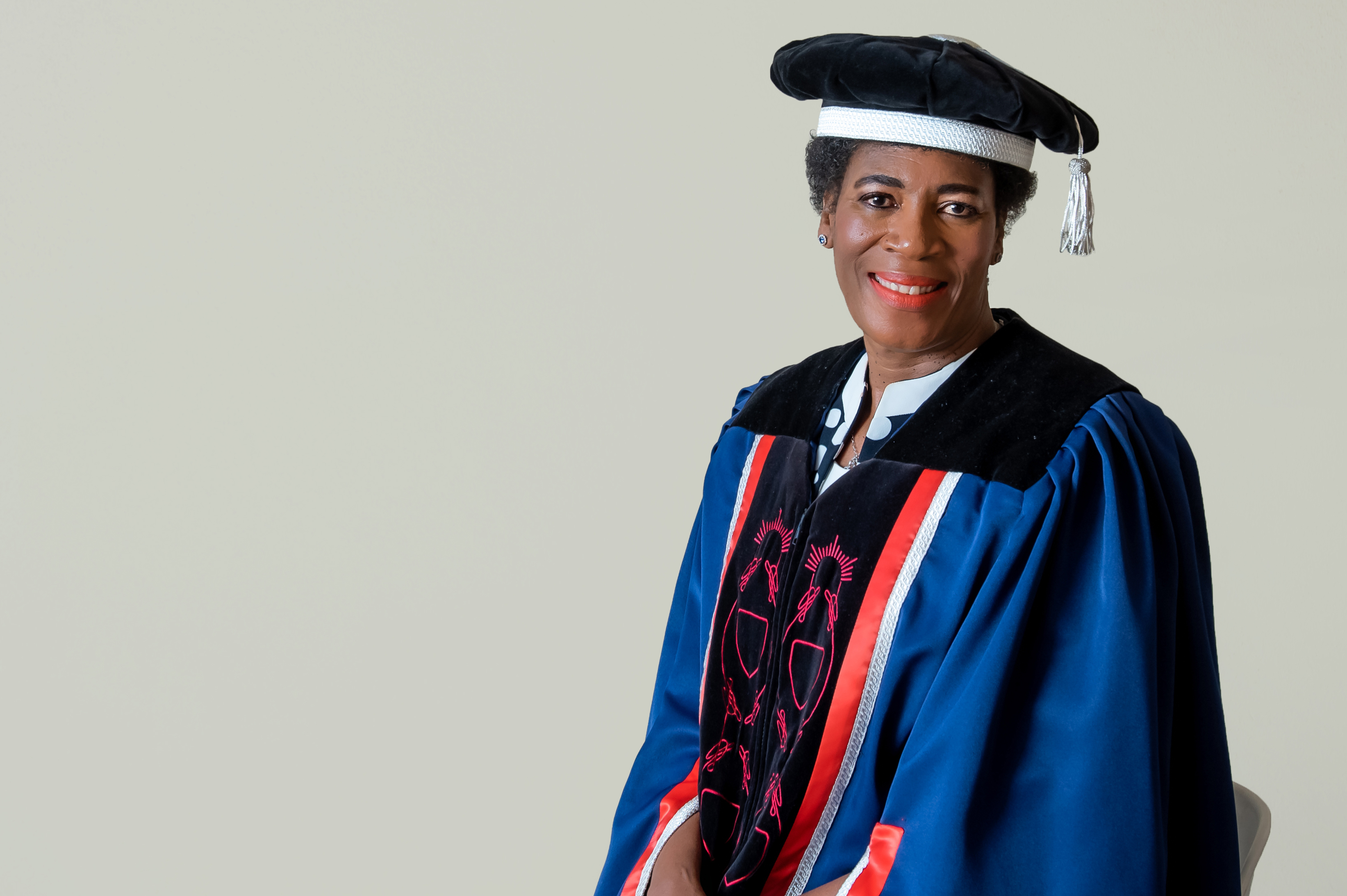 Dr Marinkie Madiope in official UFS gown