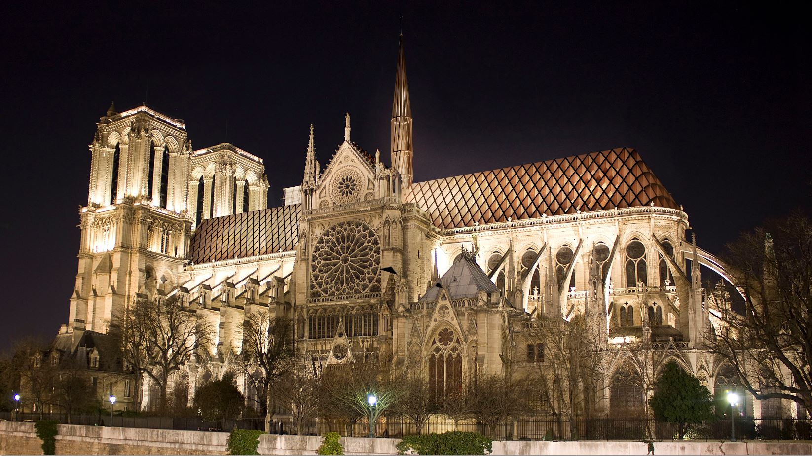 Night View of the Notre Dame with Bicknell