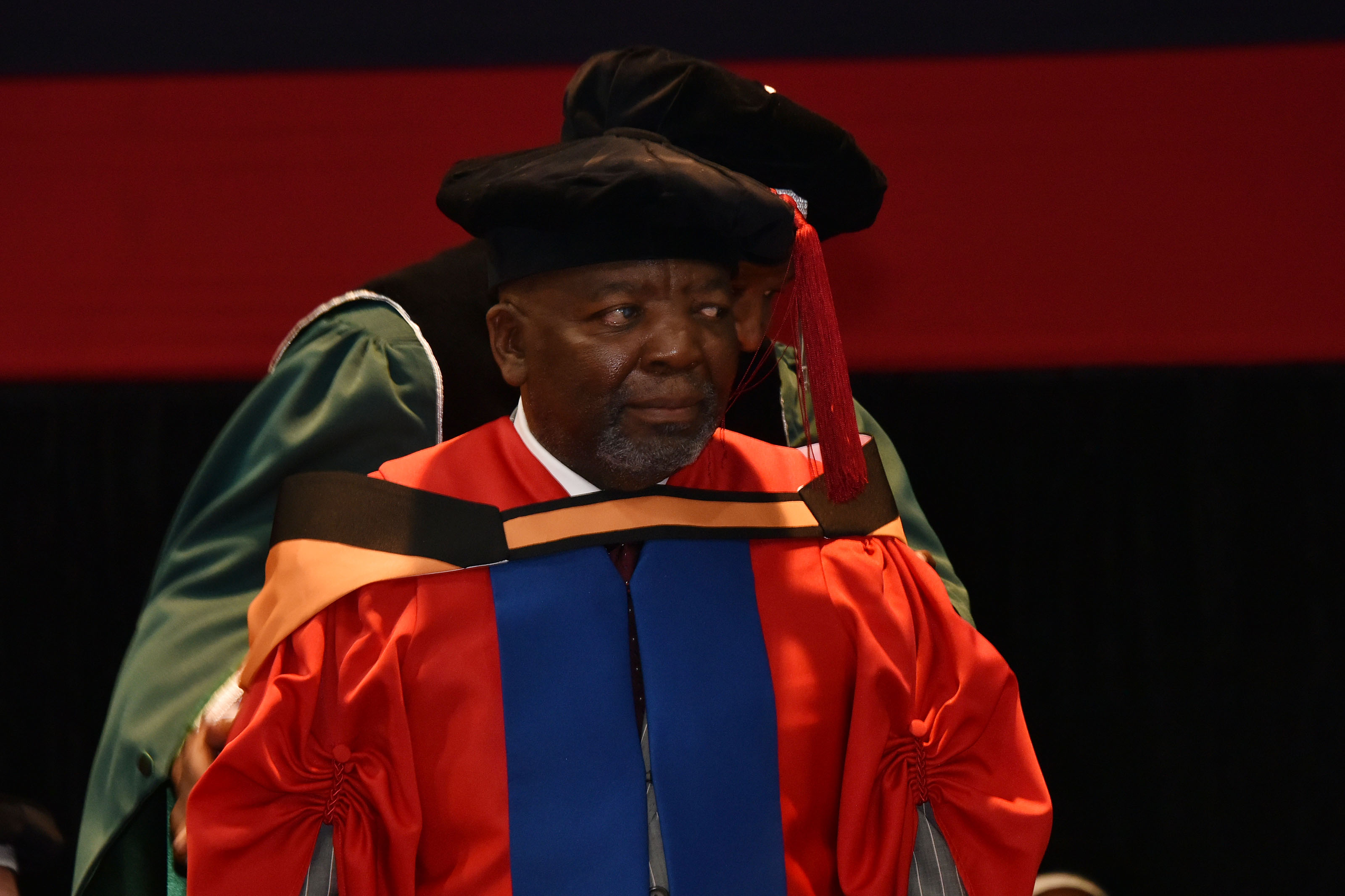 Dr Jerry Mofokeng Wa Makhetha, recipient of a Doctor of Letters honorary degree.
