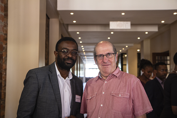 Prof Colin Chasi, HOD of the Department Communication Science with Gus Silber