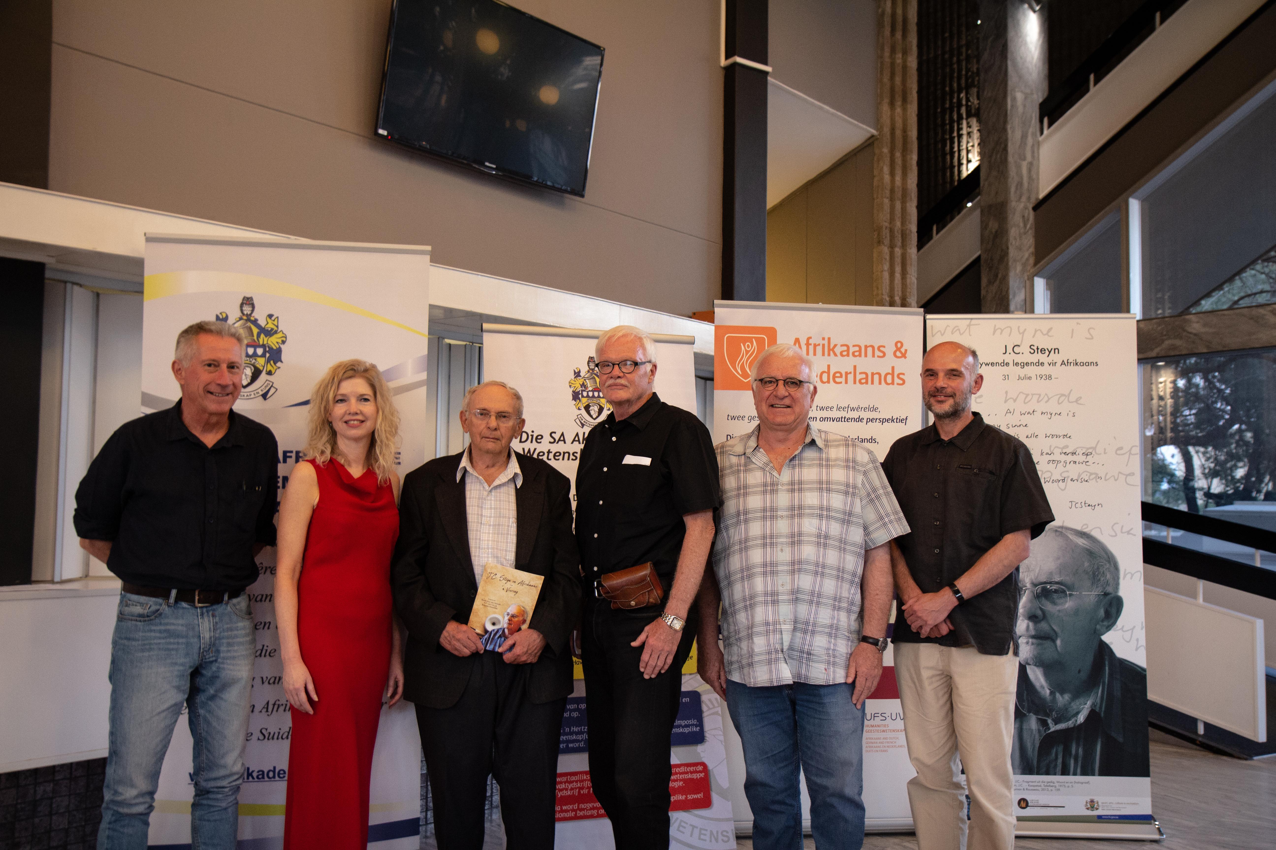 From the left; Prof Henning Pietersen; Pof Angelique van Niekerk; Prof Jaap Steyn; Prof Hennie van Coller; Prof Bernard Odendaal and Dr Francois Smith