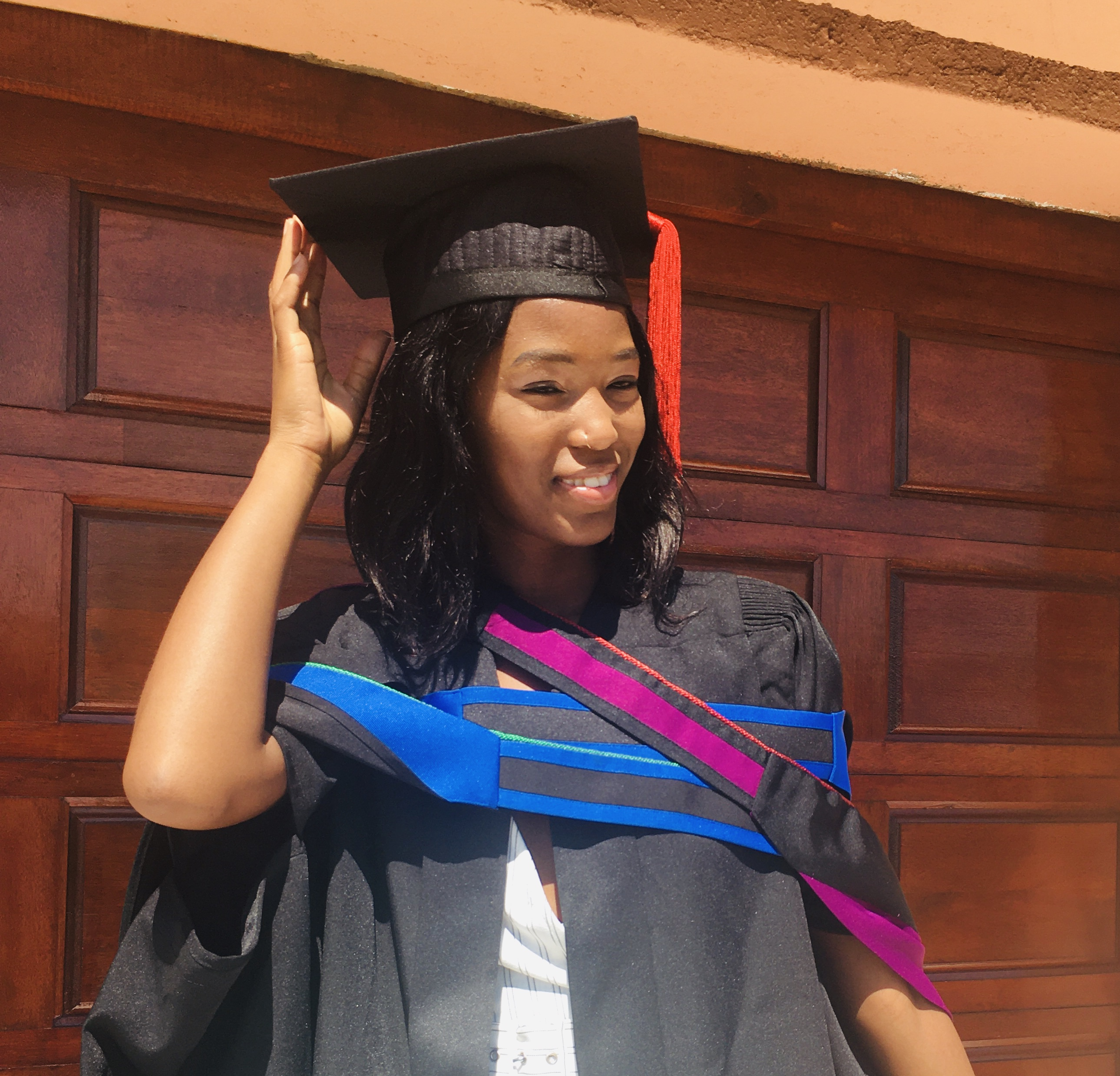 Sebotsana Paula Rasebotsa was awarded the Dean's Medal for achieving the best results in respect of a master's degree in the Faculty of Health Sciences.