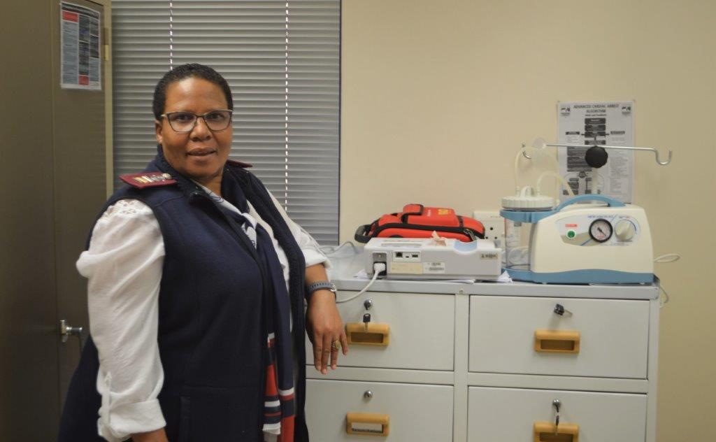 Sister Mathapelo Moloi, from Kovsie Health on the Qwaqwa Campus.