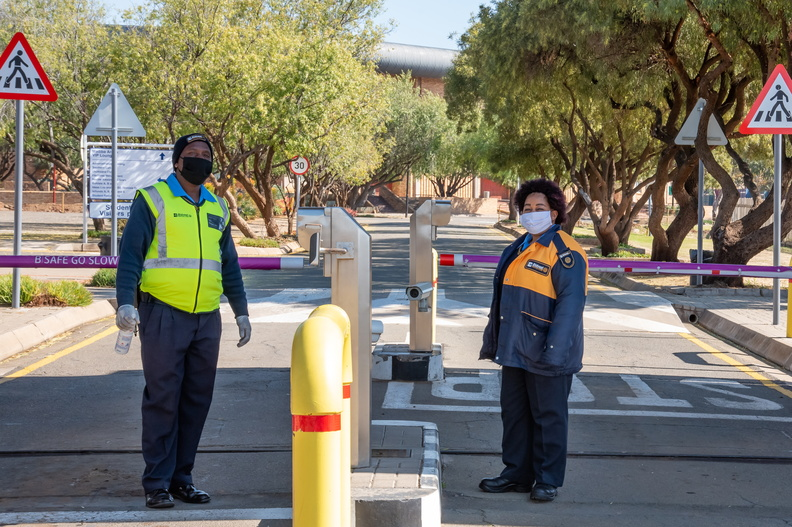 Security personnel on the UFS South Campus.