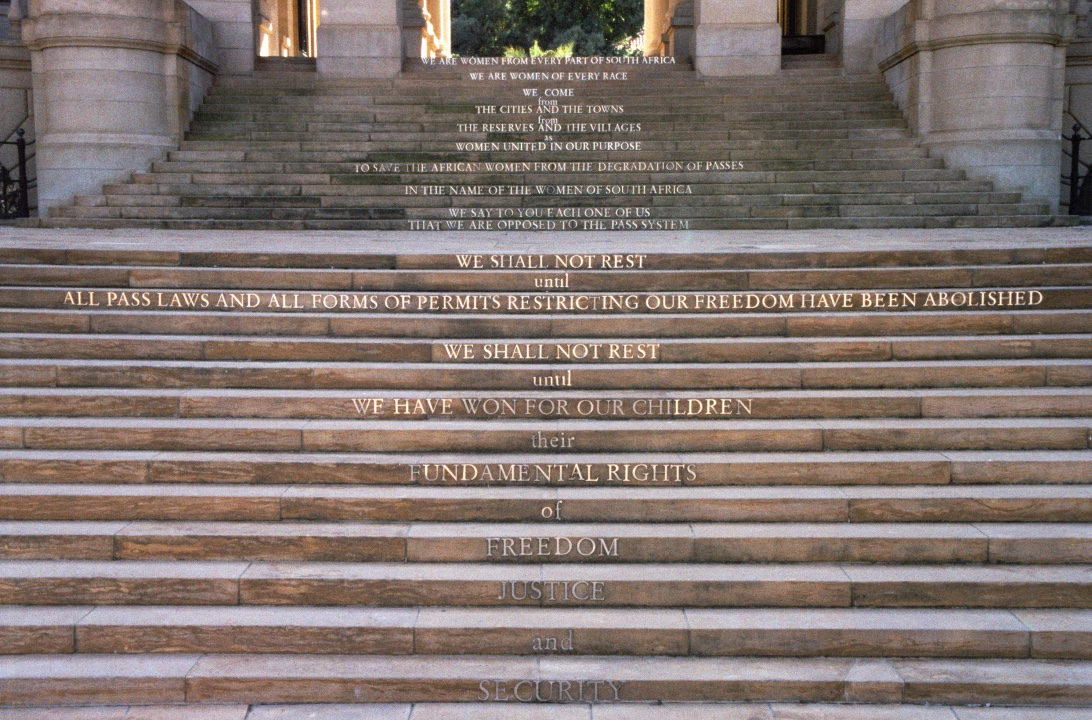 WILMA CRUISE, Monument to the Women of South Africa, Malibongwe Embokodweni, Amphitheatre at Union Buildings, Pretoria, South Africa, Architect: Marcus Holmes, Photographed by Adam Cruise