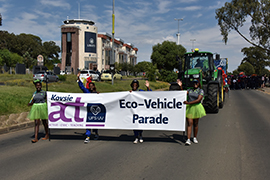 Kovsie Act vehicle parade