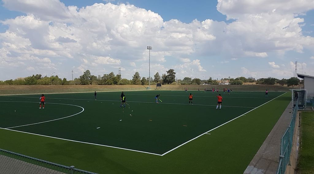 Game time upgrades: Hockey on a brand new Astro Turf field for our star athletes.
