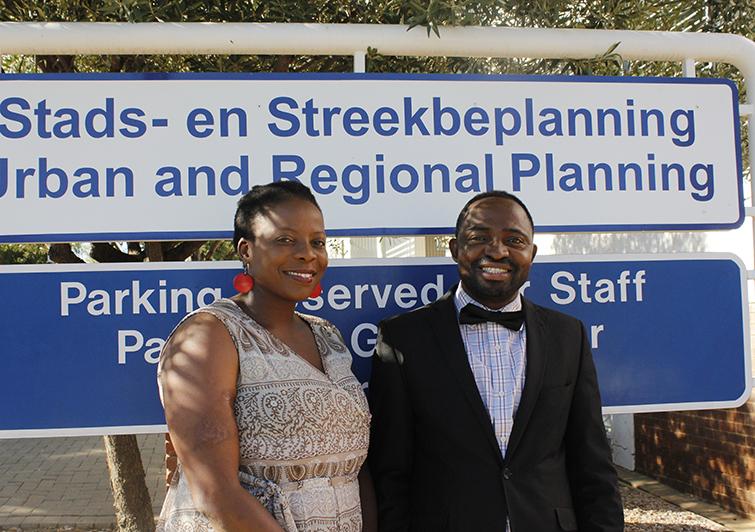 Dr Thuli Mphambukeli and Victor Okorie