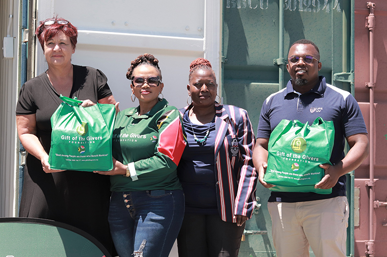 Gift of the Givers provides nutritional food parcels to Qwaqwa Campus students