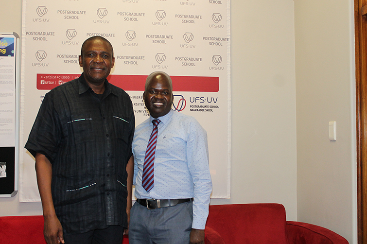 Dr Khotso Mokhele and Prof Witness Mudzi