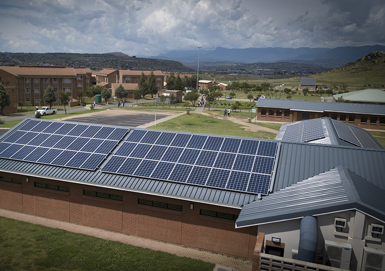 Solar Panels at UFS Qwaqwa Campus