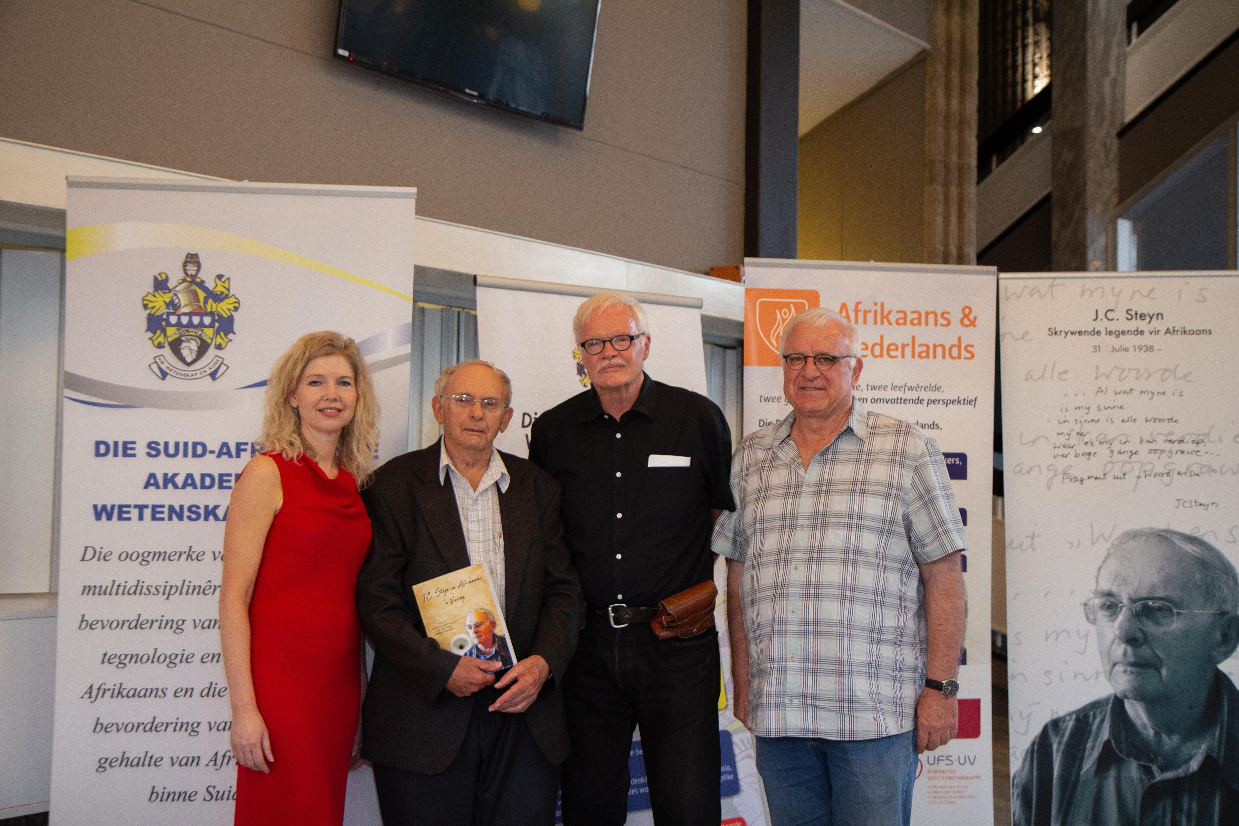 Prof Angelique van Niekerk, Prof Jaap Steyn, Prof Hennie van Coller and Prof Bernard Odendaal