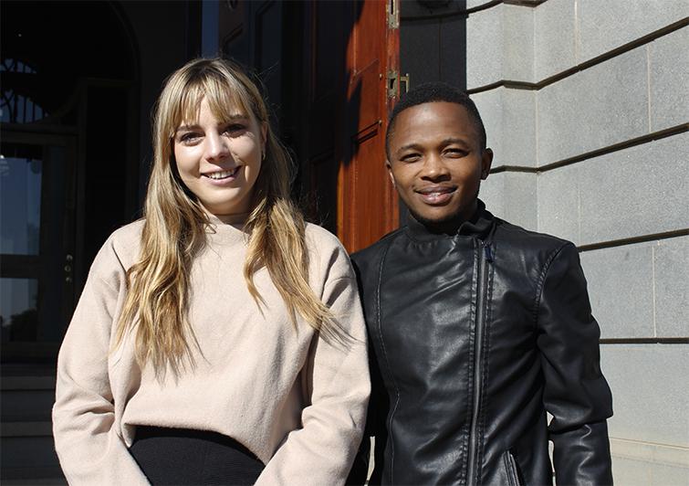 Shannon Arnold and Samkezi Mbalane