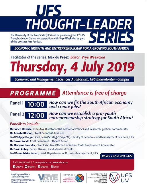 UFS Thought-Leader Series Programme
