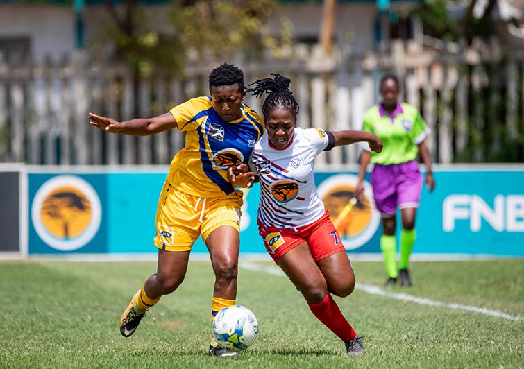 Noxolo Magudu, captian of the Kovsies Women Soccer team