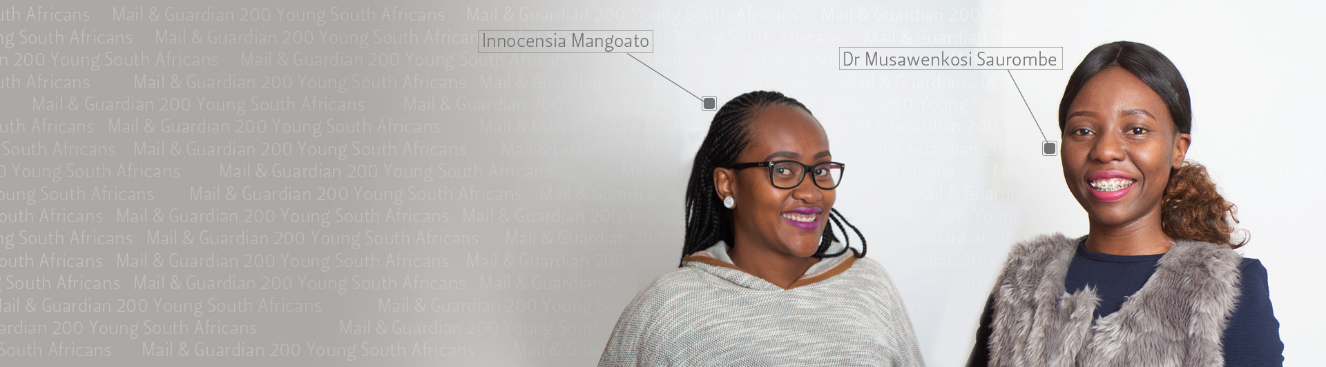 Dr Musawenkosi Saurombe and Innocensia Mangoato