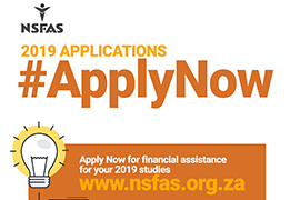 Application for 2019 NSFAS funding now open