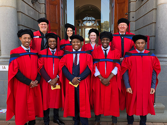 Five PhDs for Chemistry group at June 2018 graduation