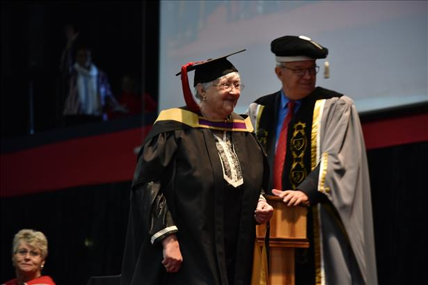 Hanneke Meyer obtains masters with distinction at 75