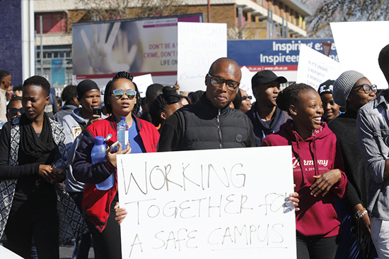 Student safety at centre of UFS agenda