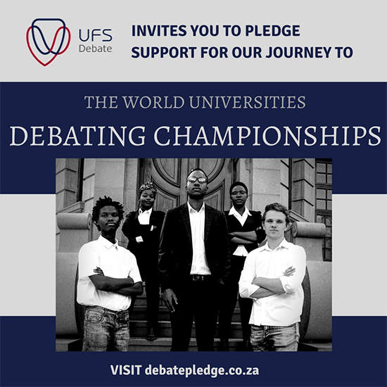 UFS Debate Society to compete in upcoming World Championships