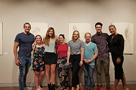 Final-year Fine Art students exhibit their work