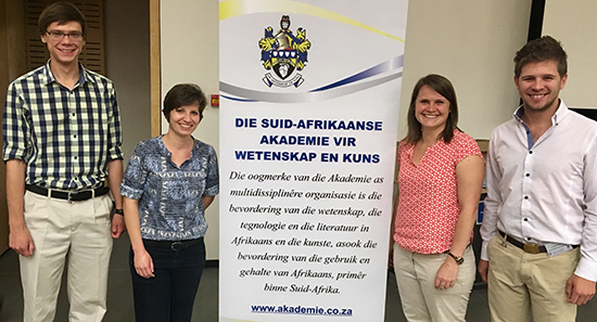 Physics excels in Afrikaans Academy for Science and Art symposium