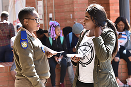 Students urged to help combat crime