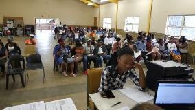 Student registration at Maluti College Bethlehem Campus