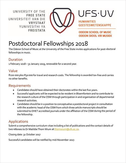 Postdoc advert