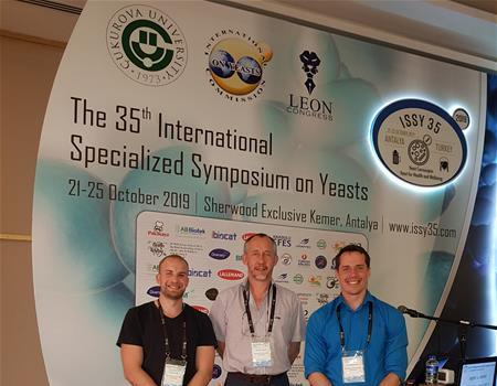 Prof Albertyn and two PhD students (Eduvan Bisschoff and Ruan Fourie) attended the 35th International Specialised Symposium on Yeasts in Antalya, Turkey