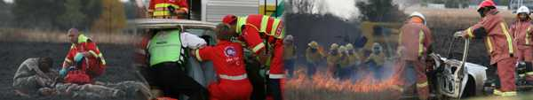 Description: Disaster Management Training and Education Centre for Africa (DiMTEC) Keywords: News Photo, Firefighting