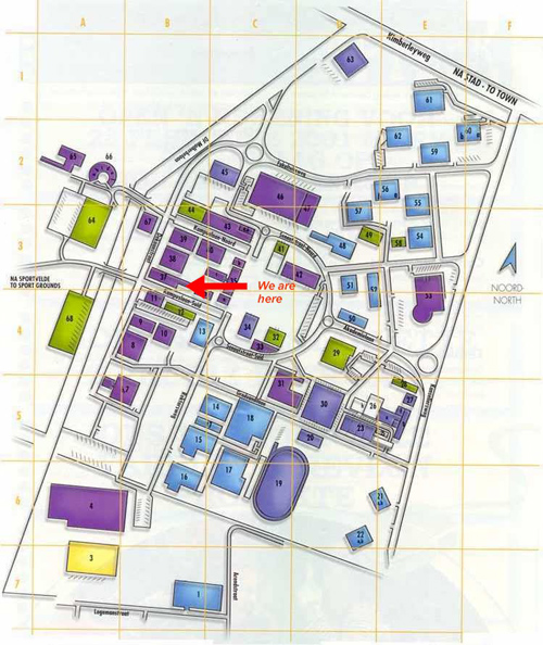 Description: Location of the Physics Department Tags: Location, Physics, UFS