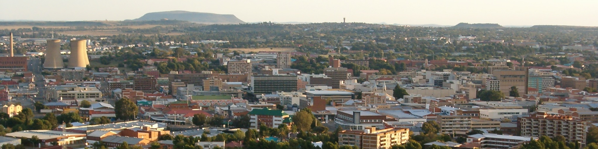 Bloemfontein from Naval Hill