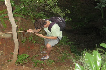 Description: Fieldwork at the Bakwena Caves Pretoria Tags: UFS Nematology fieldwork