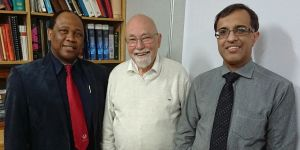 Prof Nathaniel Mofolo (Head:  School of Clinical Medicine); Prof Klaus Vogt (guest); Prof Riaz Seedat (Head:  Dept Otorhinolaryngology)