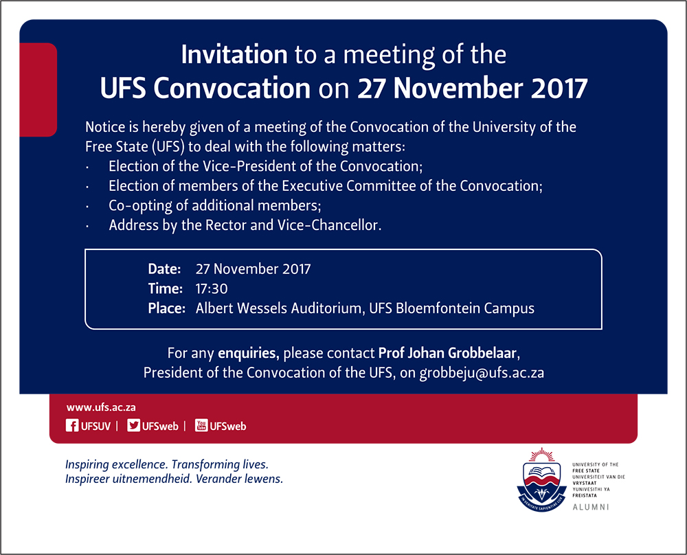 2017 Convocation Meeting