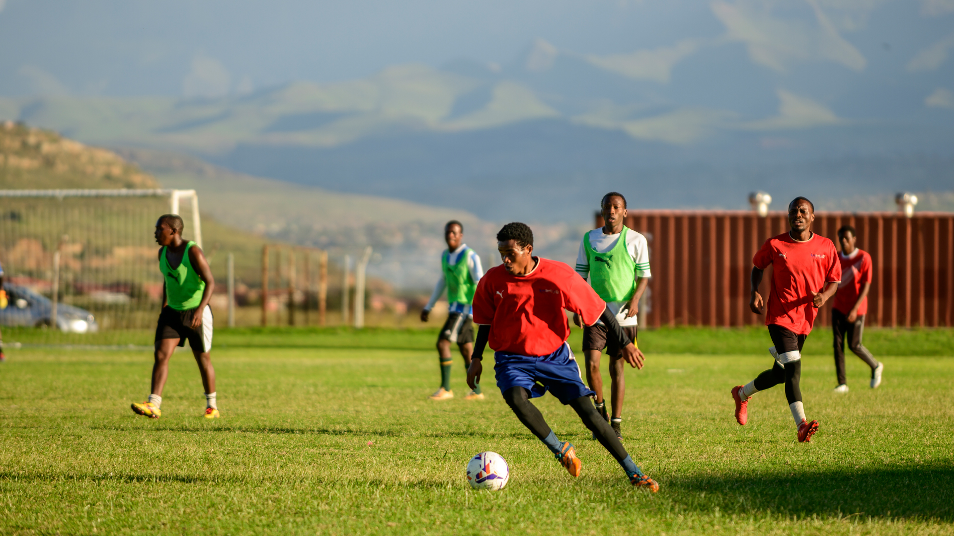 Qwaqwa Campus Students Play Soccer